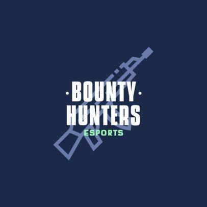 eSports Team Logo Creator Featuring an Assault Riffle Icon 463a-el1