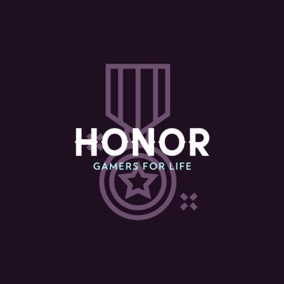 Gaming Logo Maker with a Medal of Honor Icon 463c-el1