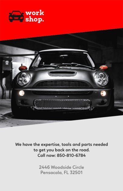 Modern Flyer Design Template for an Automotive Workshop 279c
