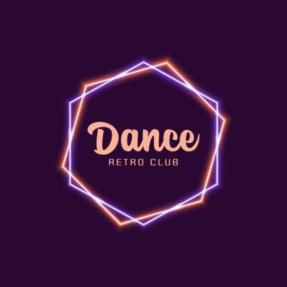 Online Logo Maker for a Retro Dance Club With Neon Frames 1683f 2837