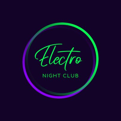Nightclub Logo Generator With a Simple Neon Style 1683g 2837