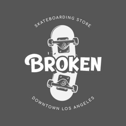 Cool Logo Maker with the Illustration of a Broken Skateboard 2591f-2837