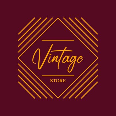 Fun Logo Maker for a Vintage Store 1783g-2837