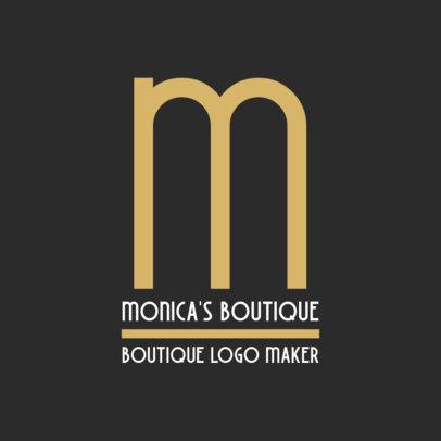 Minimalistic Logo Maker for a Fashion Boutique 1318f-2834