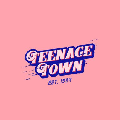 Logo Template with a Retro-Style Typography 2752i-2835