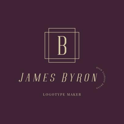 Brand Logo Maker Featuring Three Elegant Fonts 2357i-2835