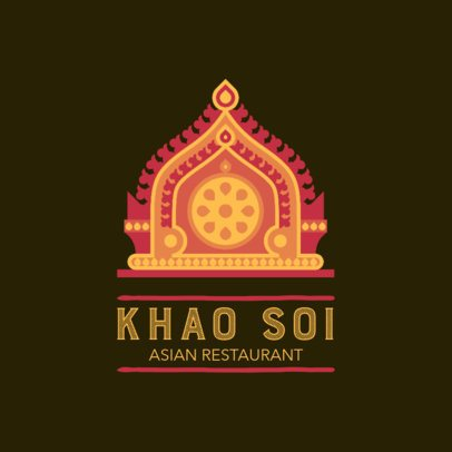 Online Logo Template for an Asian Cuisine Restaurant 1838f 2834