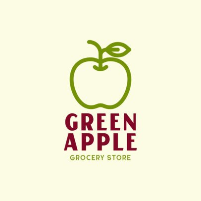 Online Logo Maker for an Organic Store with a Fruit Icon 301b-el1