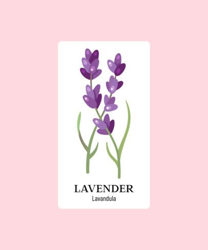 Illustrated T-Shirt Design Generator Featuring a Lavender Clipart 206a-el1