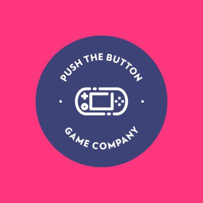 Gaming Logo Maker with a Portable Console Illustration 397c-el1