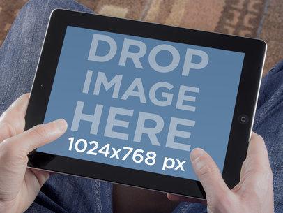 Black iPad Landscape Gaming Style