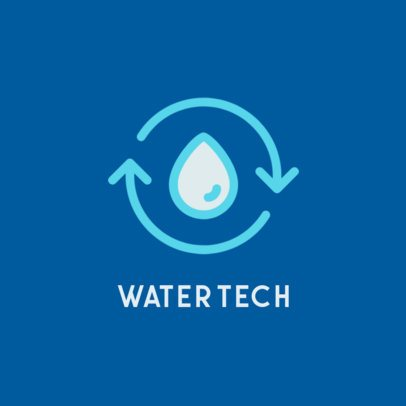 Minimalist Logo Template for a Water Technology Company 223b-el1