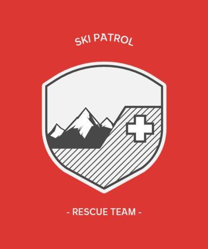 T-Shirt Design Template for a Rescue Team 203b-el1