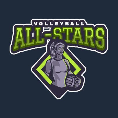 Logo Maker with an Illustrated Volleyball Player 2622c