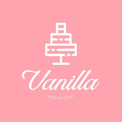 Logo Generator for a Wedding Planner Featuring a Cake Icon 440c-el1