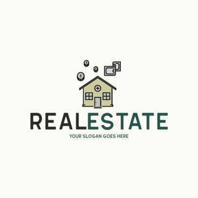 Real Estate Logo Template with a Simple Style 487-el1