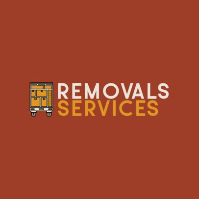 Moving Company Logo Maker Featuring a Truck Icon 487b-el1
