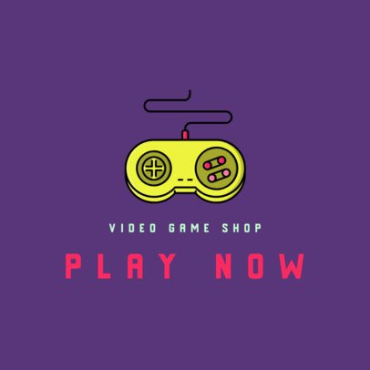Logo Template for a Video Game Store Featuring a Retro Controller 340a-el1
