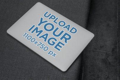 Sticker Mockup Placed on a MacBook 2291-el1