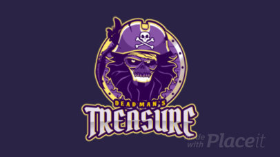 Animated Gaming Logo Design Template with Pirate Graphics 1749c