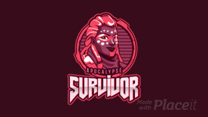 Animated eSports Logo Template for Survival Gamers 1749d