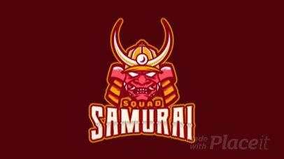 Animated eSports Logo Maker With Samurai Clipart 1749f
