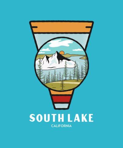 Adventure T-Shirt Design Template with a Camp Badge Illustration 207b-el1