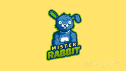 Animated Gaming Logo Maker Featuring a Rabbit Character Inspired in Fortnite Skins 2399b 2407