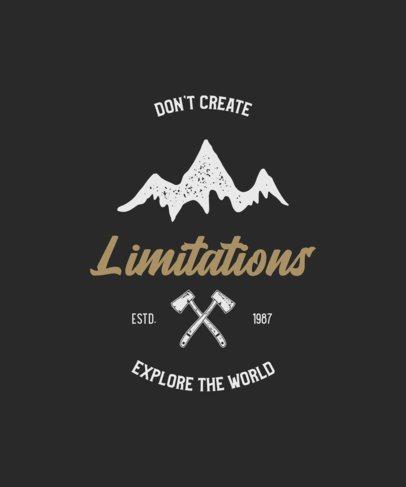 Motivational T-Shirt Design For Outdoorsy Adventurers 212-el1