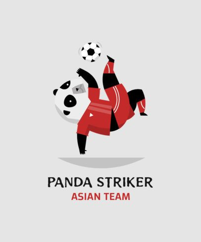 T-Shirt Design Creator Featuring a Soccer-Playing Panda 208b-el1