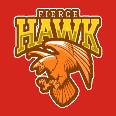 Sports Logo Creator with a Fierce Hawk Mascot 120k-2862