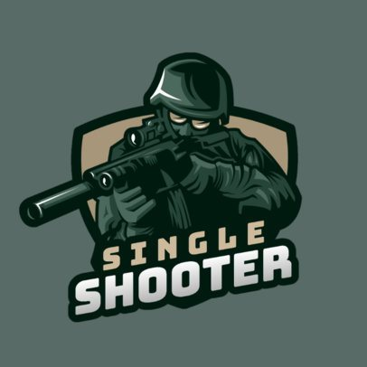 Gaming Logo Generator with an Illustrated Special Forces Soldier 1847n-2860