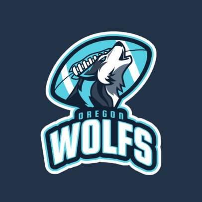 Logo Creator for a Football Team with a Wolf Illustration 1616g-2860