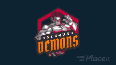 Animated Gaming Logo Template Featuring a Demon Character 1747a
