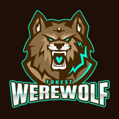 Sports Logo Maker Featuring a Furious Werewolf 1877g-2861