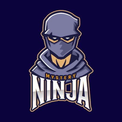 Logo Maker Featuring a Mysterious Ninja 1741f-2861