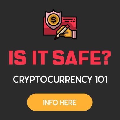 Online Banner Template for Cryptocurrency Information 428c-el1
