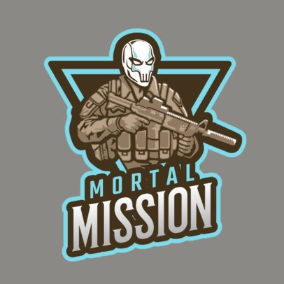 Logo Creator Featuring a Mortal Soldier 1743p-2861