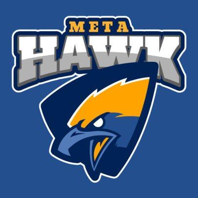 Sports Logo Template Featuring an Aggressive Hawk Clipart 120s 2856