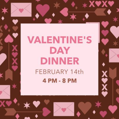 Instagram Post Creator for a Valentine's Day Event 2142c