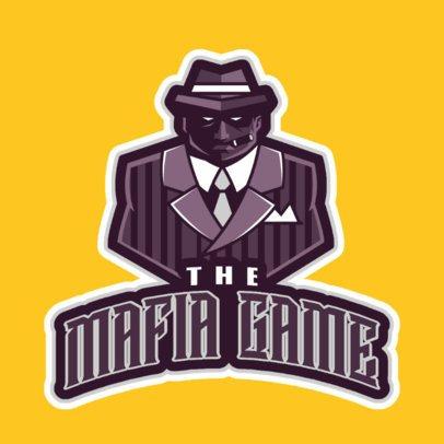 Gaming Logo Maker with an Intimidating Mafia Man Illustration 29q-2862