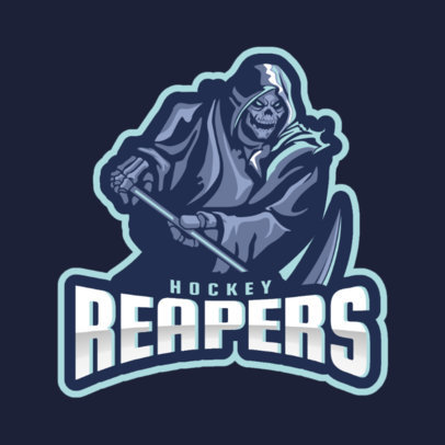 Sports Logo Maker for a Hockey Team with a Death Graphic 1560j-2859
