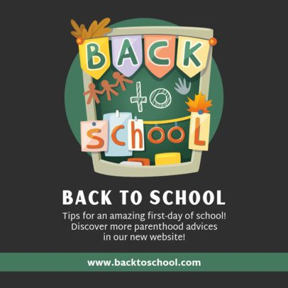 Back to School Facebook Post Maker with Quotes 211-el1