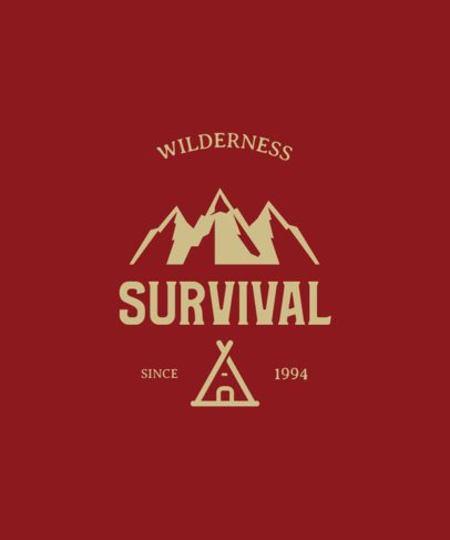 T-Shirt Design Template to Go Into the Wild 212a-el1