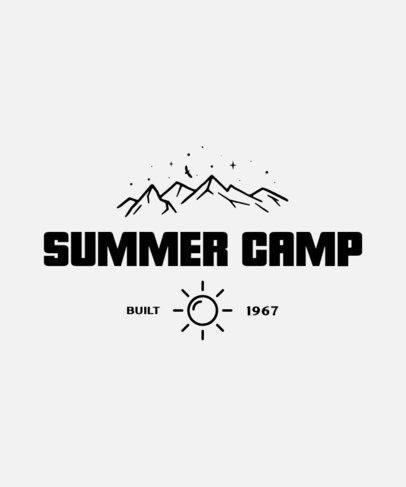 Classic T-Shirt Design Maker for a Summer Camp 212b-el1