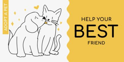 Twitter Cover Template for a Pet Adoption Center 2149