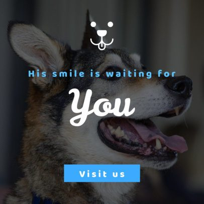 Banner Generator Featuring a Dog Silhouette Icon 2152b