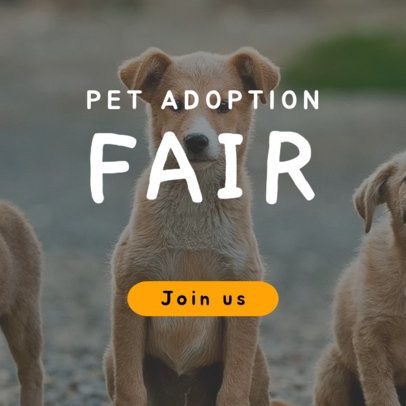 Online Banner Generator for a Pet Adoption Fair 2152e