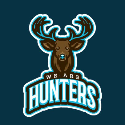 Sports Logo Template Featuring an Illustrated Deer 21w-2857b