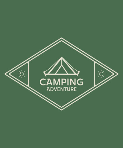 Camping Adventure T-Shirt Template with a Tent Clipart 209c-el1